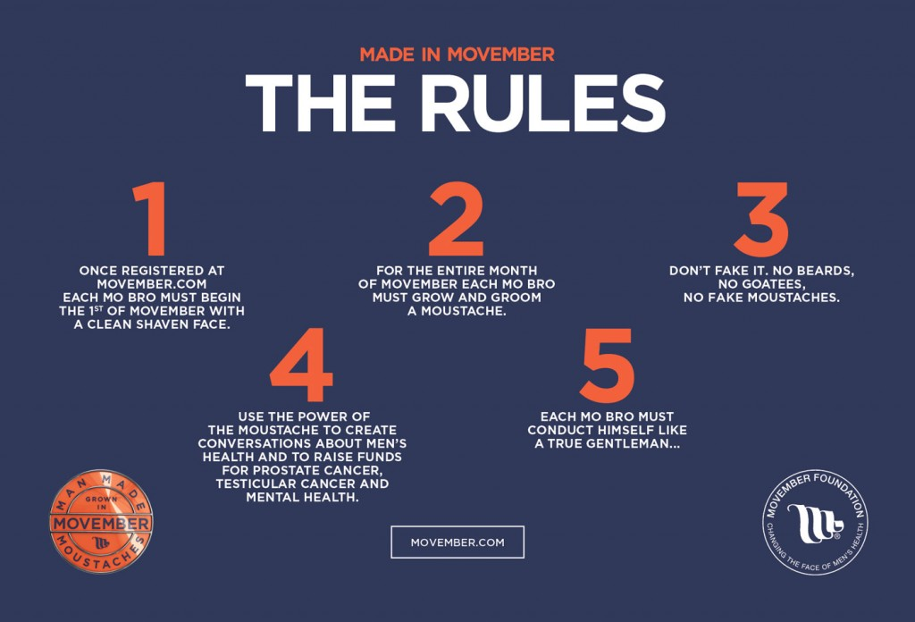Movember - The Rules